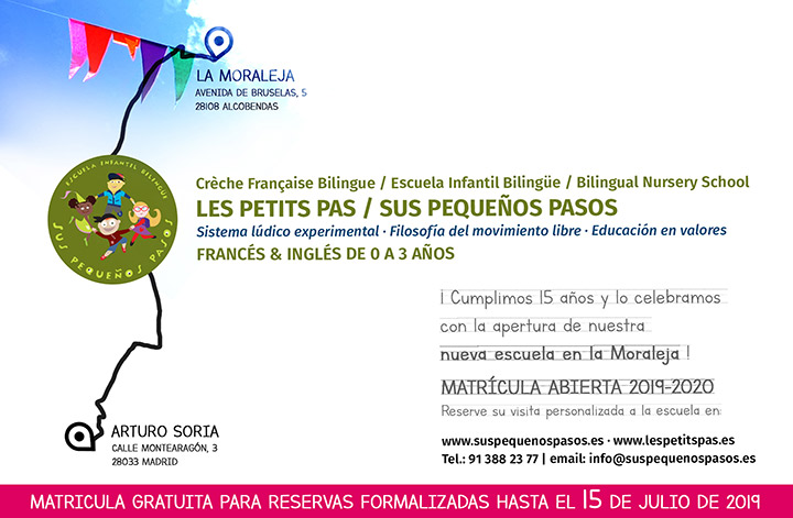 Les inscriptions sont ouvertes, et gratuites jusqu'au 15 juillet au Les Petits Pas La Moraleja